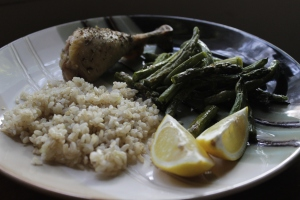 Roasted Chix & Veg, w/ Brown Rice